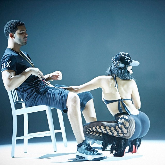 Drake et Nicki Minaj pour la vidéo Anaconda, Air Jordan III - 3