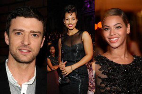 Justin Timberlake, Alicia Keys, Beyonce