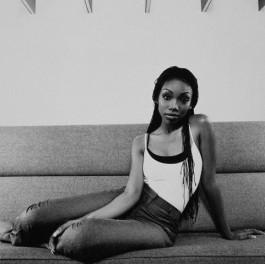 Brandy Sitting on Sofa