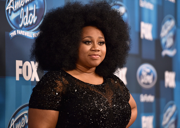 "HOLLYWOOD, CALIFORNIA - APRIL 07:  American Idol Season 15 runner-up La'Porsha Renae poses in the pressromm at FOX's ""American Idol"" Finale For The Farewell Season at Dolby Theatre on April 7, 2016 in Hollywood, California.at Dolby Theatre on April 7, 2016 in Hollywood, California.  (Photo by Alberto E. Rodriguez/Getty Images)"